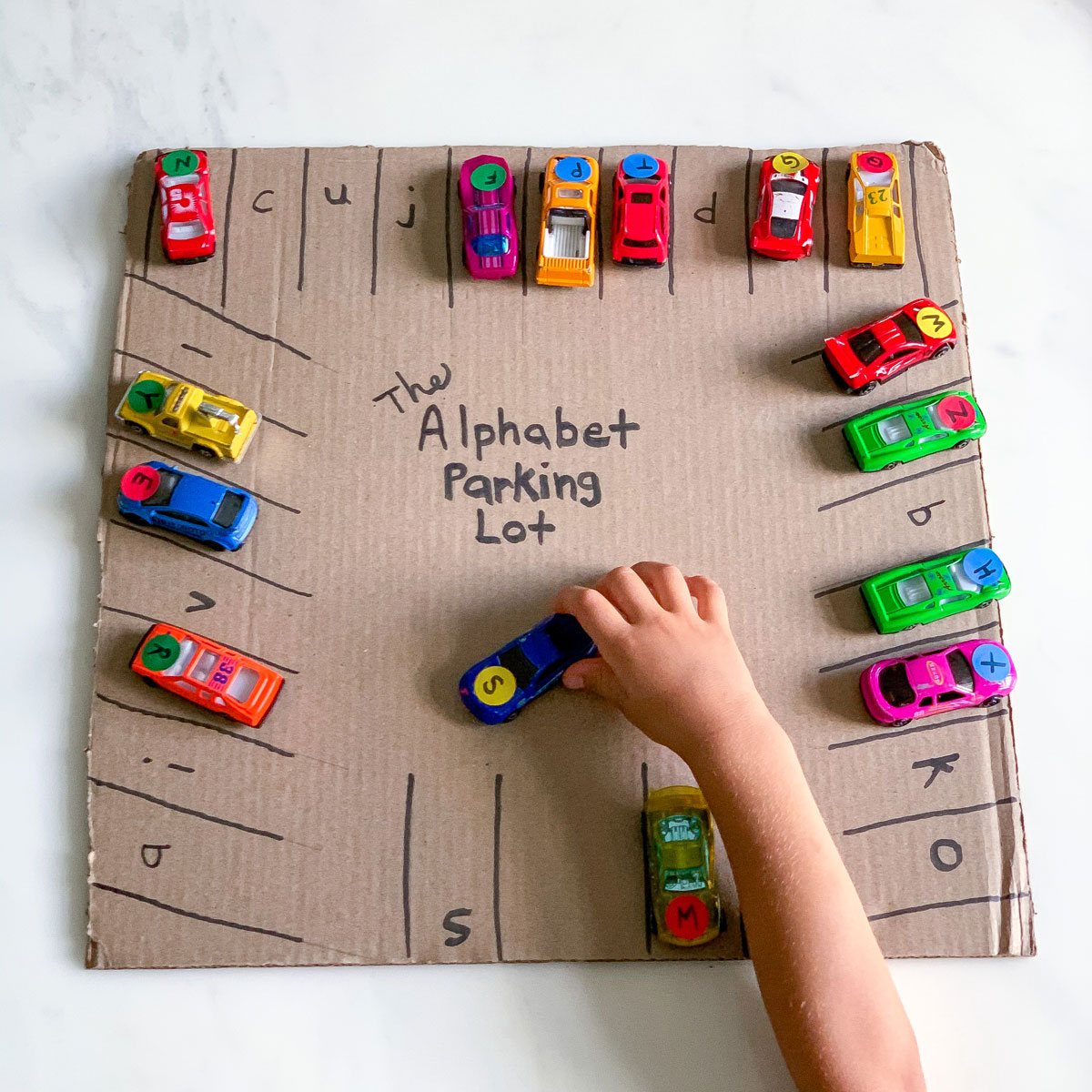 Uppercase and Lowercase Letters: ABC Parking Lot