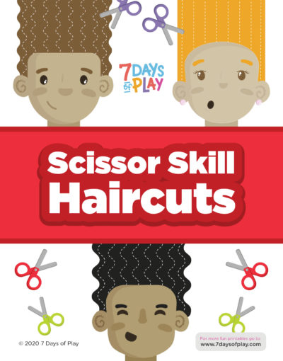 scissor skill printable fun haircut worksheet for preschoolers and toddlers learning how to cut and strengthen fine motor skills