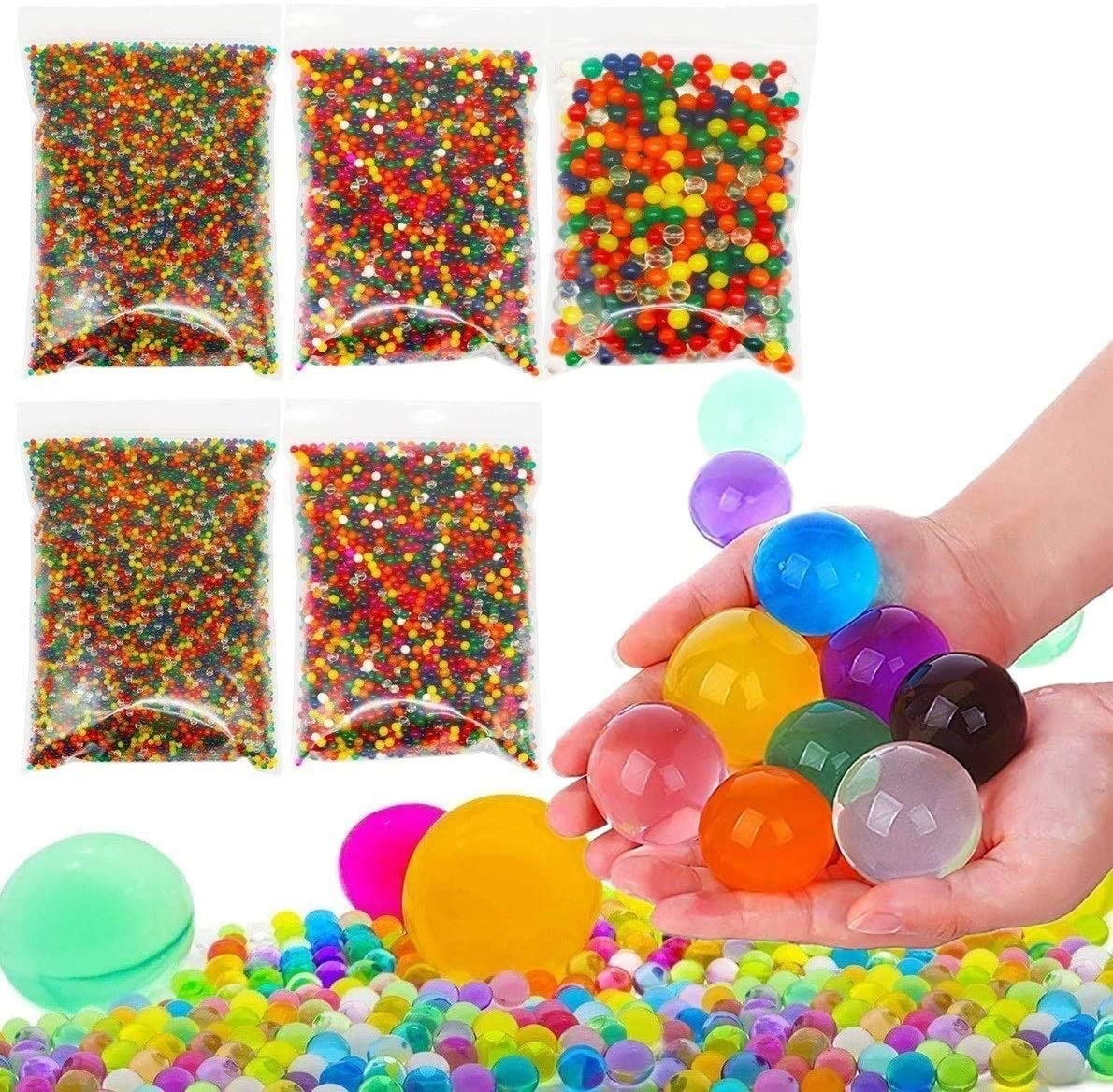 water beads small medium and large
