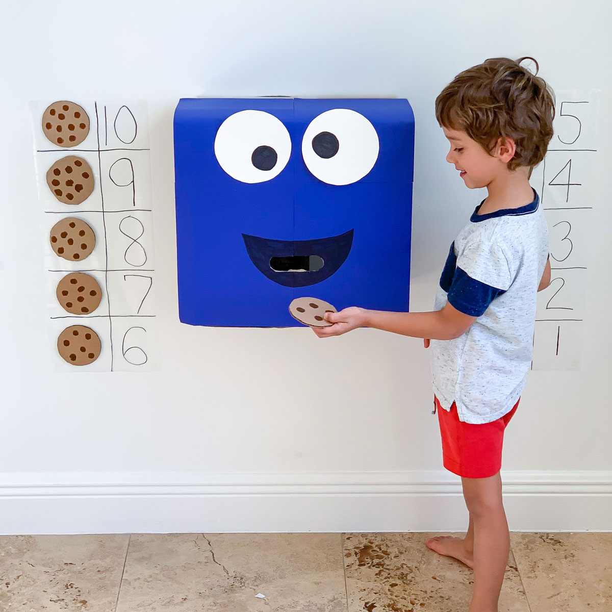 number recognition game with cookie monster